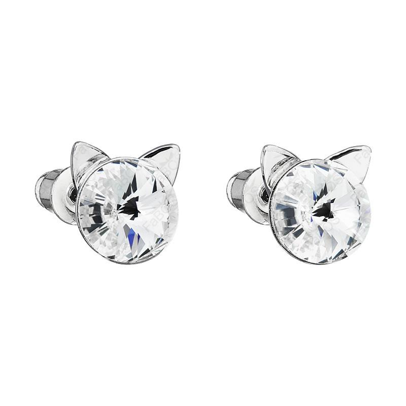 Náušnice Kočičí uši Crystal SWAROVSKI