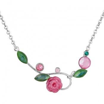 Náhrdelník Růžička Rose SWAROVSKI