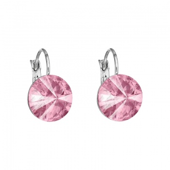 Náušnice Rivoli 12mm klapka Light Rose SWAROVSKI