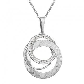 Náhrdelník Propletené kruhy Crystal SWAROVSKI