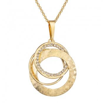 Náhrdelník Propletené kruhy pozlacený Crystal SWAROVSKI