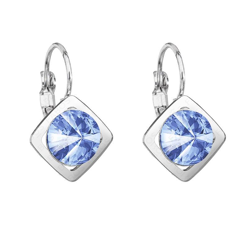 Náušnice Magický čtverec Light Sapphire SWAROVSKI
