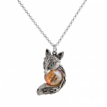 Náhrdelník Liška Red Opal