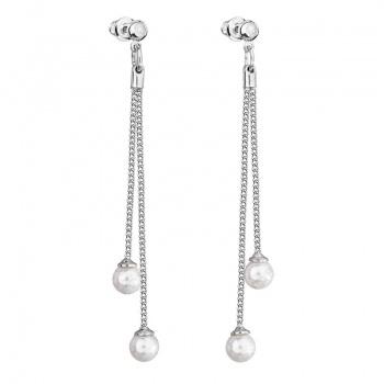 Náušnice visací s perlami Crystal White SWAROVSKI