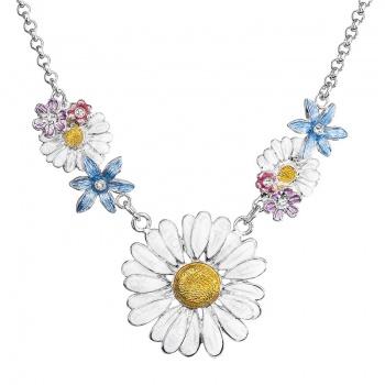 Náhrdelník Kopretina s květy Crystal FABOS