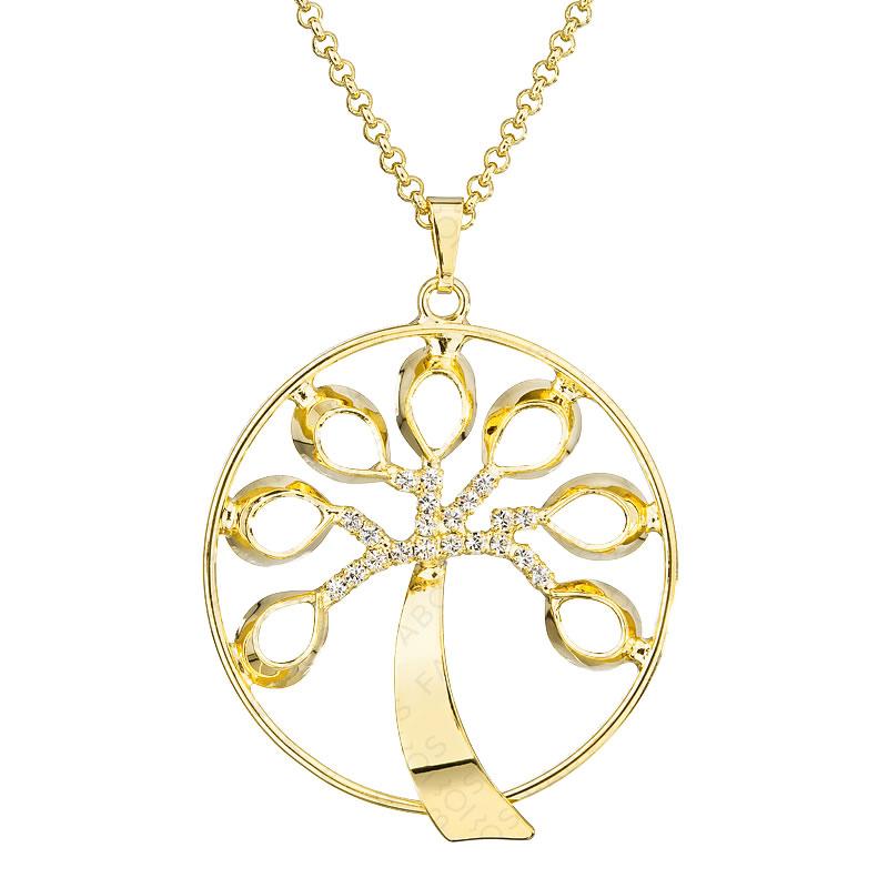 Náhrdelník Strom života pozlacený Crystal SWAROVSKI