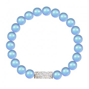 Náramek natahovací s perlami Light Blue SWAROVSKI