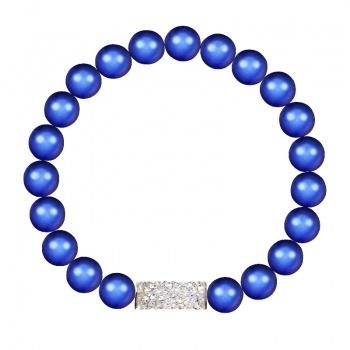 Náramek natahovací s perlami Dark Blue SWAROVSKI