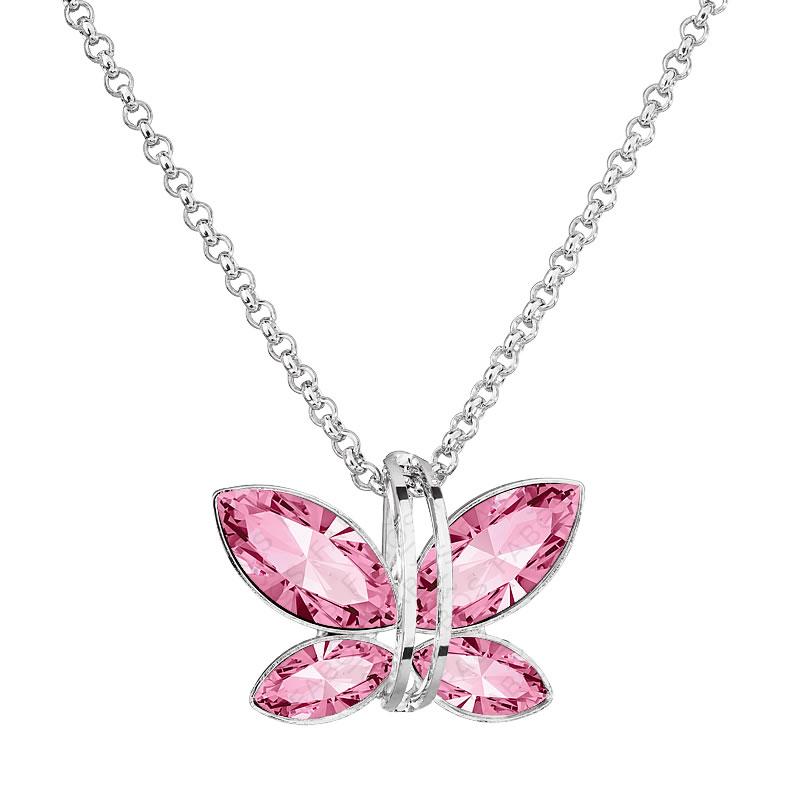 Náhrdelník Motýlek Light Rose SWAROVSKI