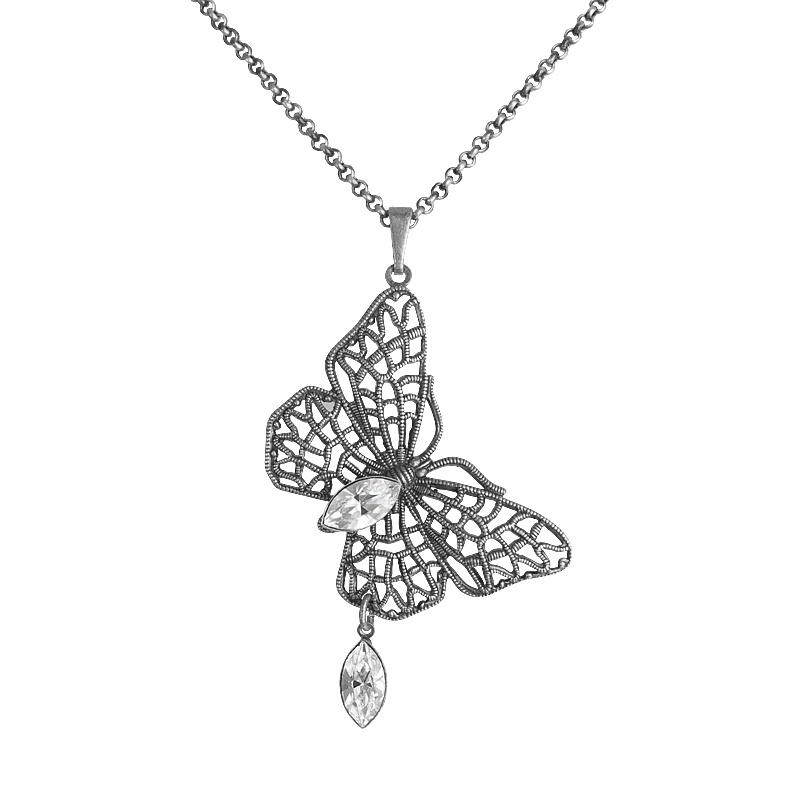 Náhrdelník Naveta Crystal Swarovski elements motýlek