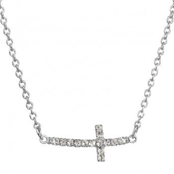 Náhrdelník Křížek Crystal rhodium SWAROVSKI