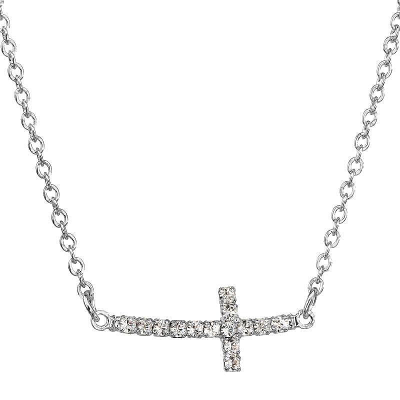 Náhrdelník Křížek ležatý Crystal SWAROVSKI