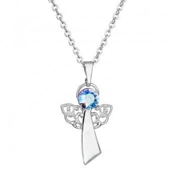 Náhrdelník Anděl víra modro duhový SWAROVSKI