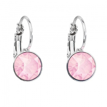 Náušnice Šaton 8mm klapka Crystal Powder Rose SWAROVSKI