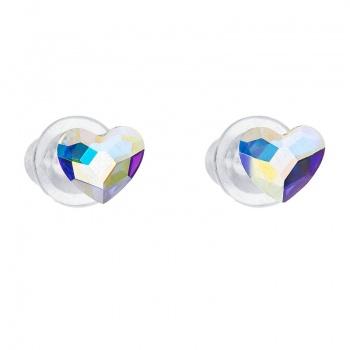Náušnice Srdce 6mm Crystal AB SWAROVSKI