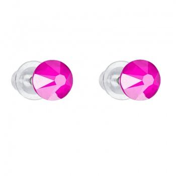Náušnice Šaton 6mm Electric Pink SWAROVSKI