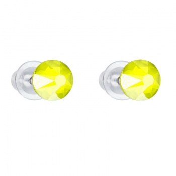 Náušnice Šaton 6mm Electric Yellow SWAROVSKI