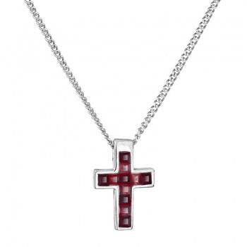 Náhrdelník Malý křížek Siam SWAROVSKI