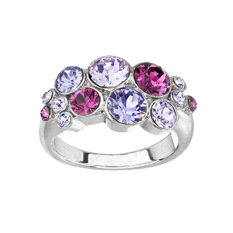 Prsten šatony Amethyst Violet Tanzanite SWAROVSKI