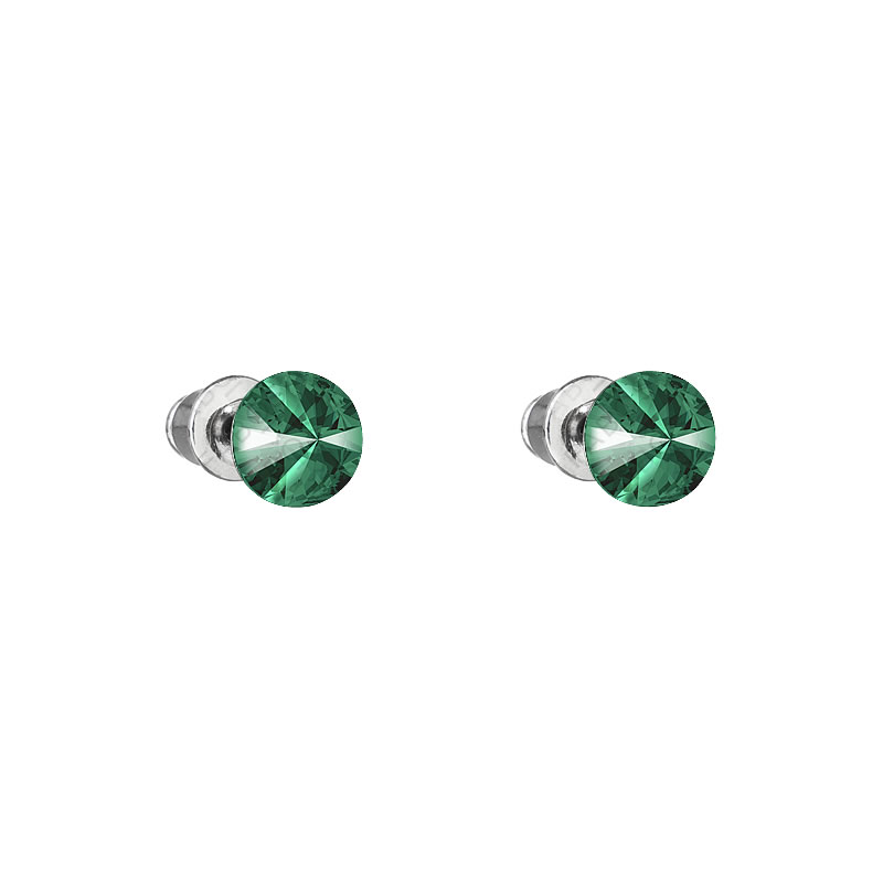 Náušnice Rivoli 6mm Emerald SWAROVSKI