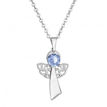 Náhrdelník Anděl víry Light sapphire FABOS