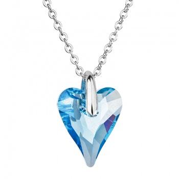 Náhrdelník srdce Amore Modré FABOS