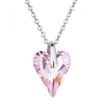 Náhrdelník srdce Amore Růžové FABOS