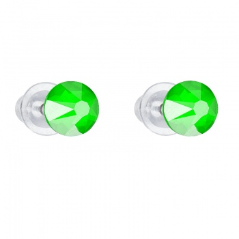 Náušnice Šaton 6mm Electric green FABOS