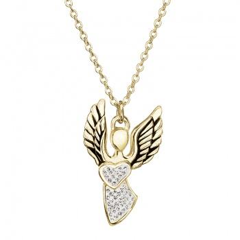 Náhrdelník Anděl lásky Crystal pozlacený FABOS