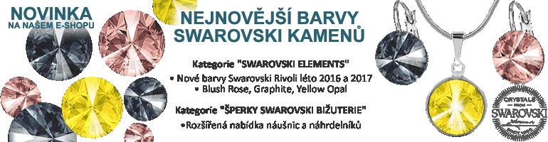 Swarovski, fabos, eshop, rivoli, blush rose, graphite, Yellow opal, novinky, leto